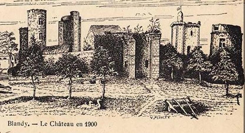 Chateau de Blandy en 1900
