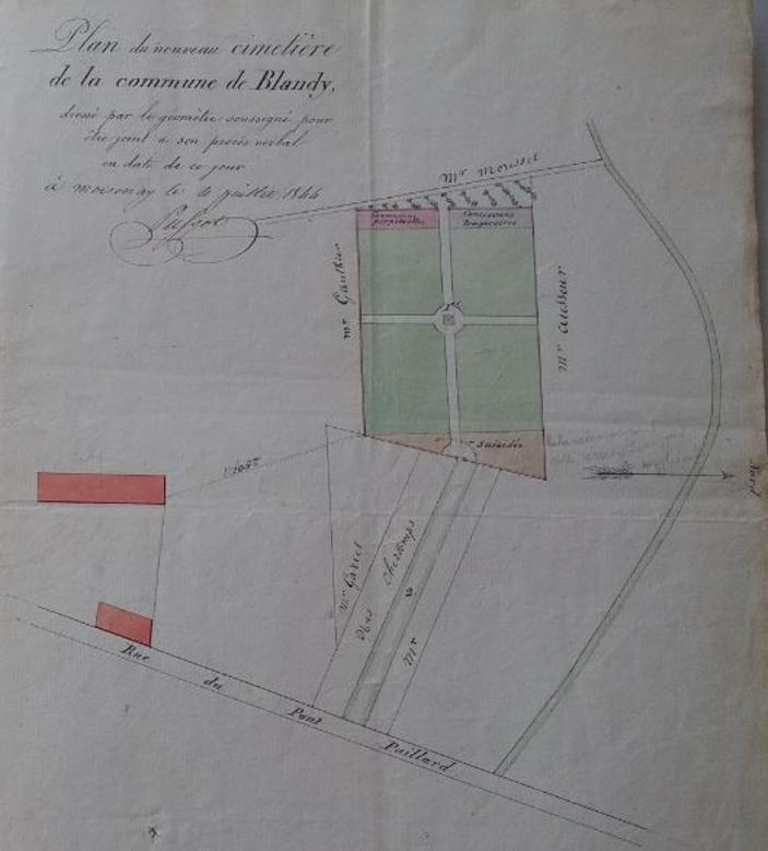 Plan du cimetière